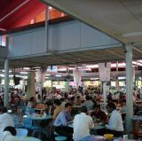 A hawker center in Singapore.