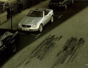 "Mercedes-Benz - ""Skid Marks""<br />photo credit: coloribus.com"